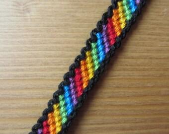Bordered Candy Stripe Friendship Bracelet Made To Order