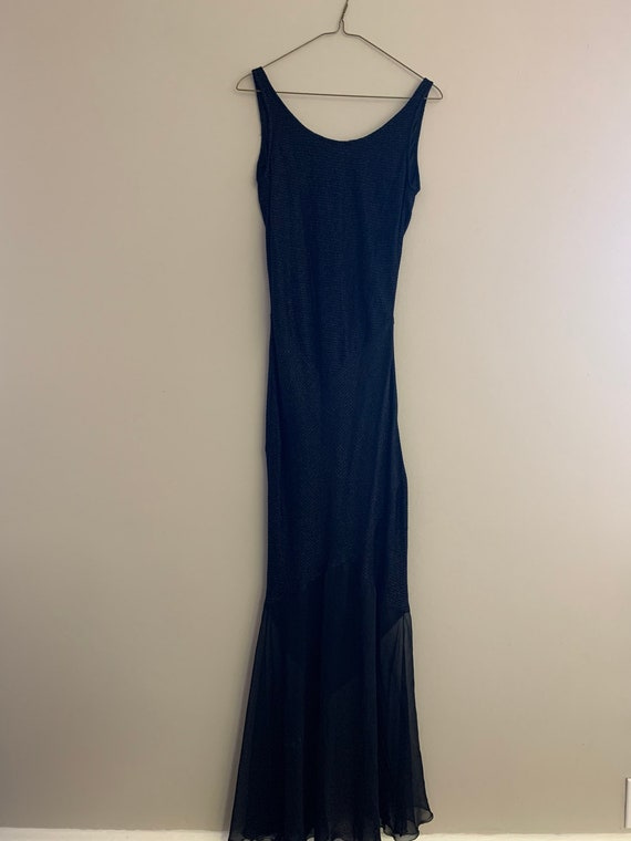 Black backless dress, evening gown, evening dress,