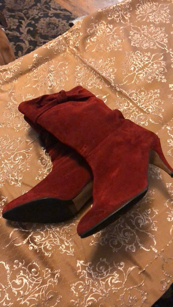 Vintage Rinaldo Rosselli red suede boots