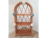 Wiklibox wicker cabinet quot Isabell quot in NATURAL color with pompoms