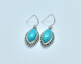 92.5% Sterling Silver with Turquoise
