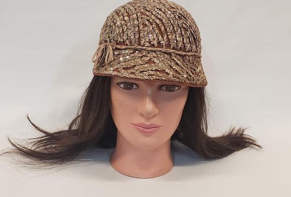 Henry Pollak Hat, Brown Bucket Hat, Sequin Bucket… - image 1