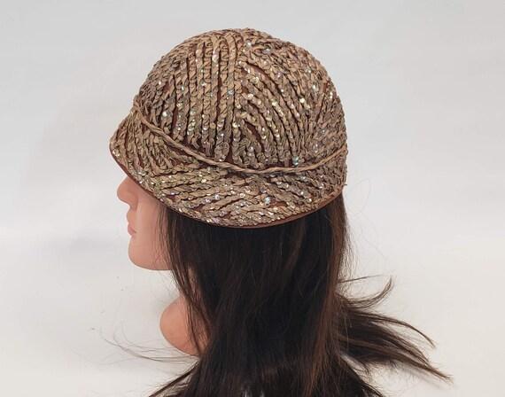 Henry Pollak Hat, Brown Bucket Hat, Sequin Bucket… - image 4
