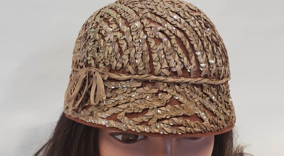 Henry Pollak Hat, Brown Bucket Hat, Sequin Bucket… - image 5
