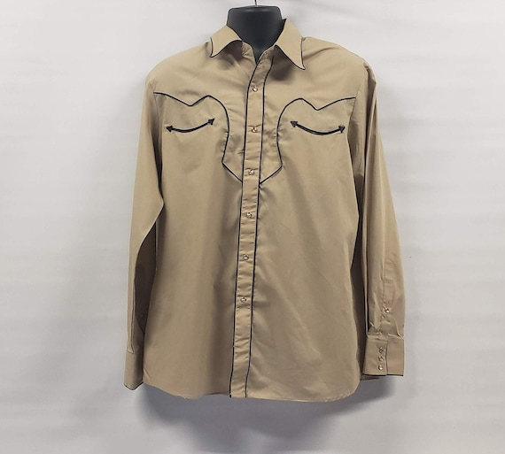 Alfie California Shirt, Western Shirt, Light Brown