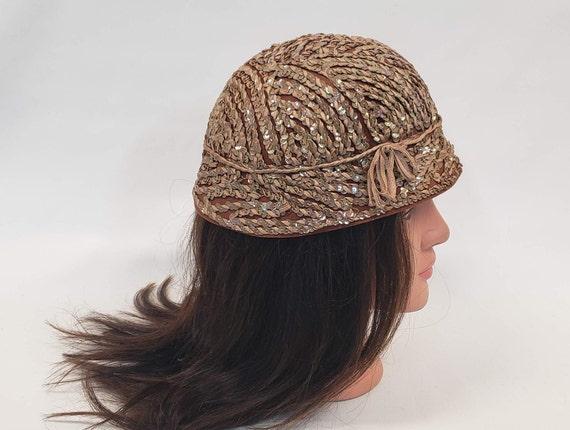 Henry Pollak Hat, Brown Bucket Hat, Sequin Bucket… - image 2