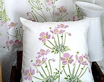 Little Japanese Anemone Flower Stencil ©