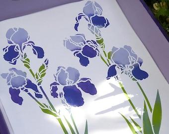 Little Iris Flower Stencil  ©