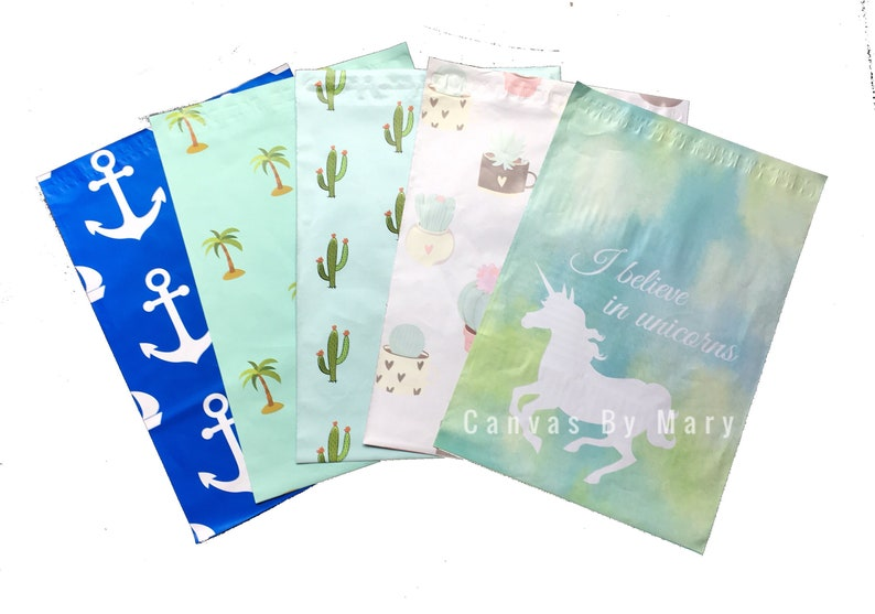 50 Designer Printed Poly Mailers 10X13 Shipping Envelopes Bags TIE DYED