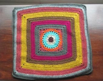 handmade crochet cushion cover