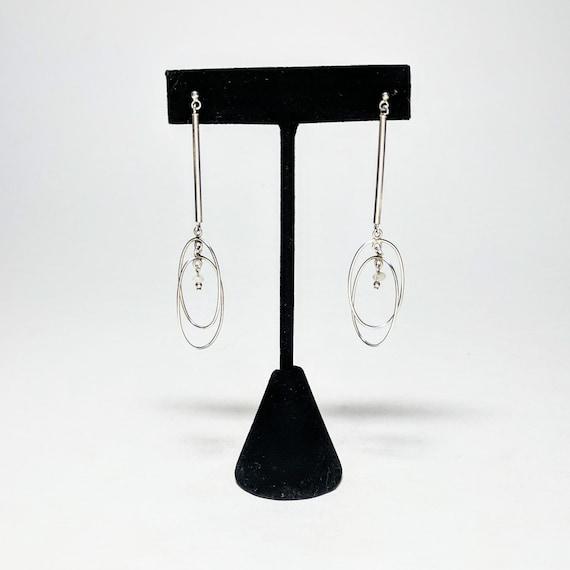 Vintage Sterling MOBILE Modernist Earring / Bar an