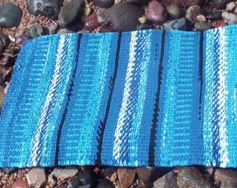 Ocean Storm Twined Rag Rug