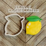 Lemon with leaf Cookie Cutter