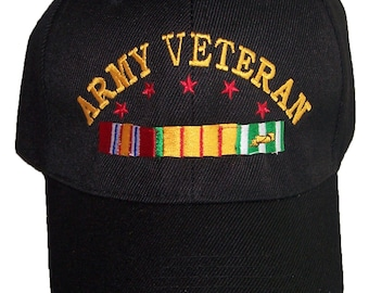 ce228f0f68c US Army Veteran Military Baseball Caps Hats Embroidered - Military Goods -  Gifts (7506A67)
