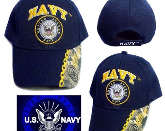 787c6e43239 US Navy Licensed Military Baseball Caps Hats Embroidered - Gifts (7507N6)