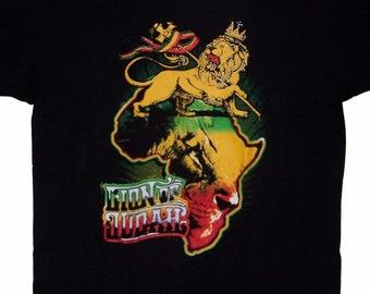 59b19d76c Lion of Judah Reggae Rasta Bob Marley US Screen Printed Black 100% Cotton  Hip Hop T-Shirts - Gifts (RrTs21 )