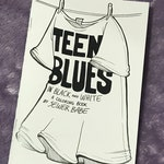 Teen Blues in Black and White - a coloring book for the apathetic youth (16+)