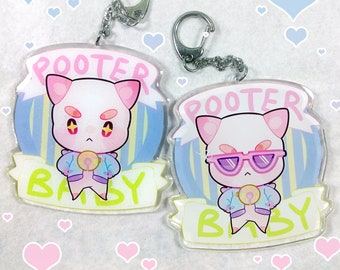 """Bee and Puppycat - """"Pooter Baby"""" 3 inch Double-sided Charm w/ Glitter Epoxy"""