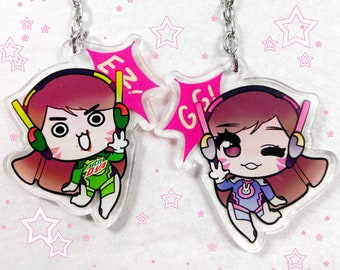 Overwatch - D.Va 2 inch Double-sided Charm