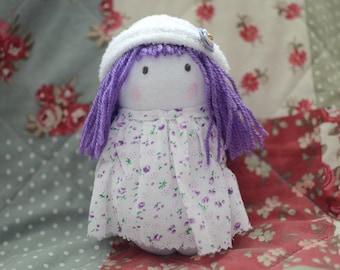 Handmade Sock Doll - Lavender