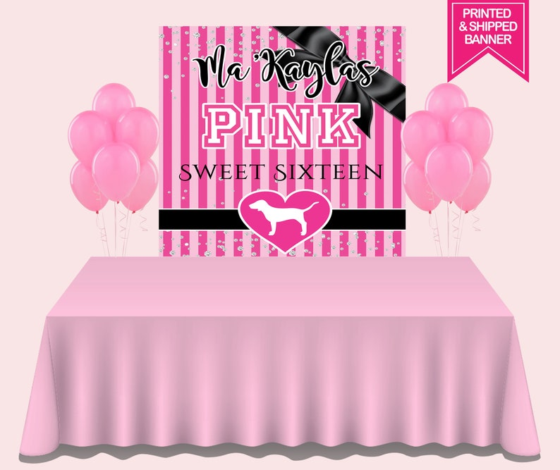 5febdec811 Victorias Secret Love Pink Backdrop Love Pink Party Party