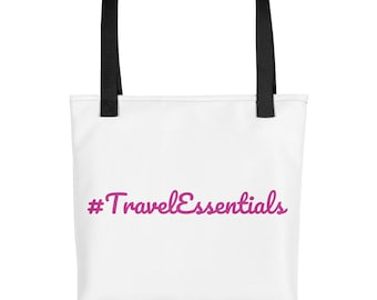 Travel Essentials Hashtag Tote Bag by JetSetter Apparel