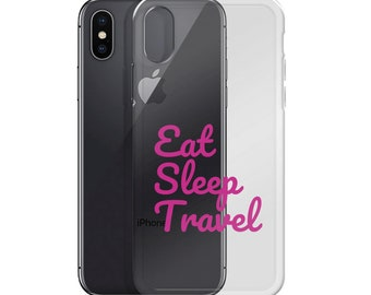 Eat Sleep Travel iPhone Case by JetSetter Apparel