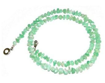 Chrysoprase Necklace Beads Kazakhstan