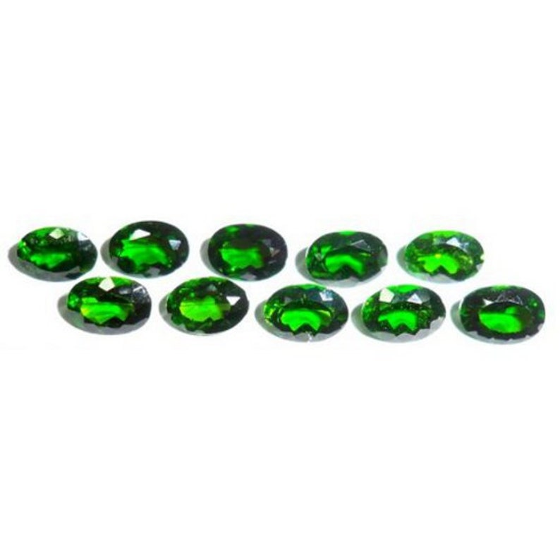 Faceted Chrome Diopside Cabochons Cabs Russia Yakutia
