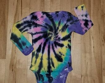 608ab377ebd9 Tie dye baby onepiece size 18 months