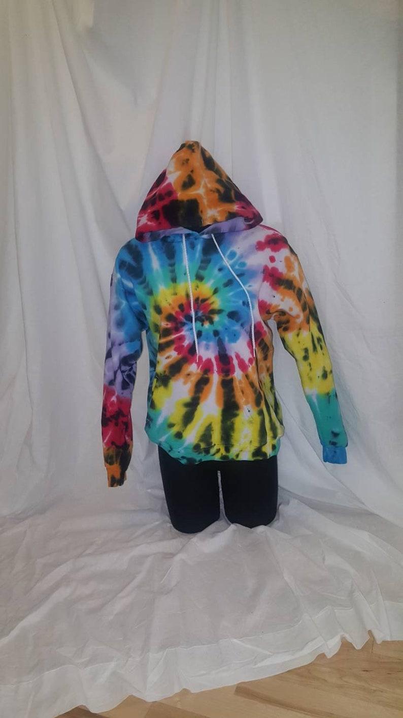 73afe23da57 Bright rainbow Tie dyed hooded sweatshirt tie dye hoodie tie