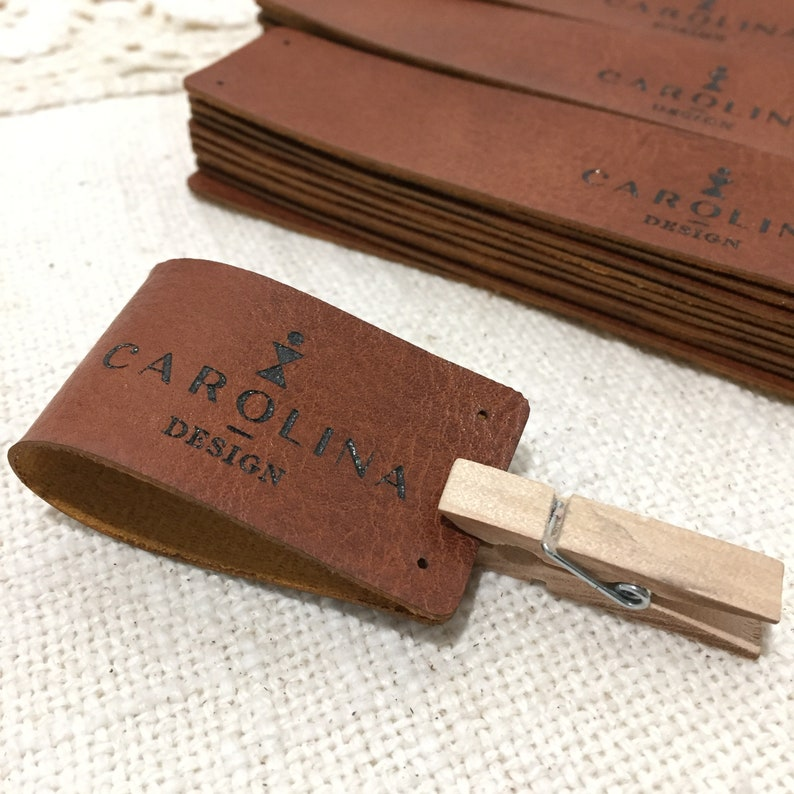 Leather label Custom leather label Custom clothing labels Personalized leather labels Knitting labels Camp labels Custom leather patch