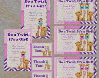 Felt Giraffe Baby Shower printable package