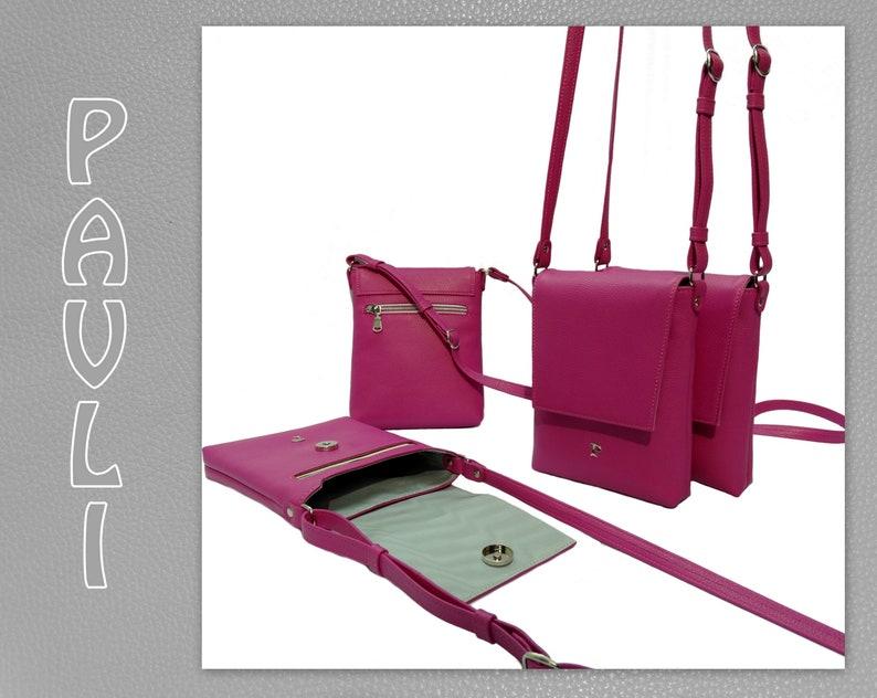 233dc3e7d3 Pink Flap Bag-Mini Pink Purse-Leather Bag-Crossbody | Etsy