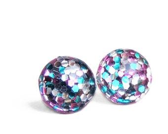 POP Earrings / Sprinkles / Color POP / Handmade Jewelry / Resin Jewelry