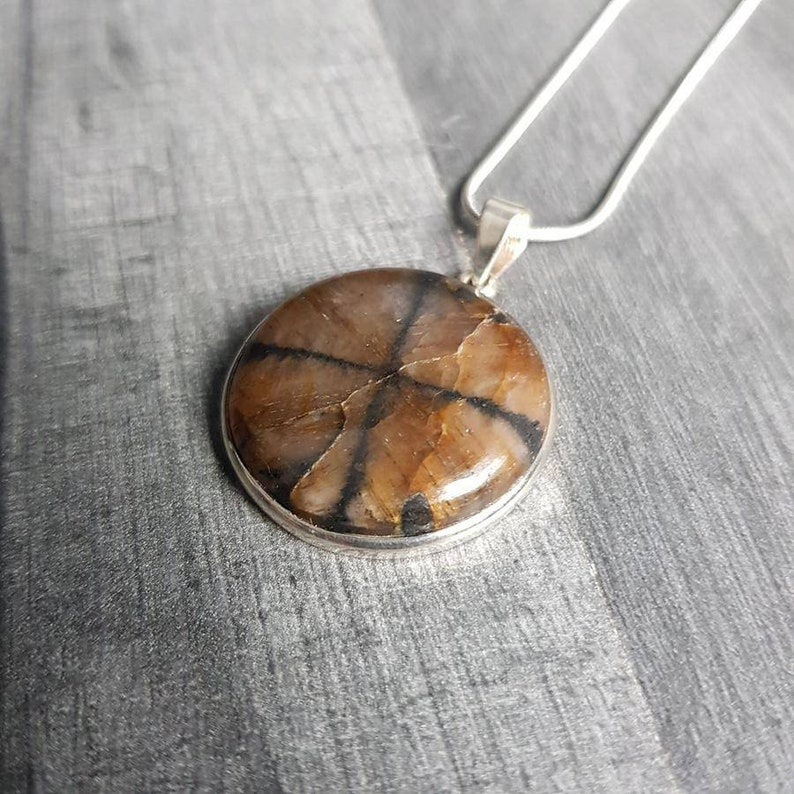 Chiastolite AAA Grade Premium Crystal Pendant #3 Highest Form Of Sterling Silver Necklace