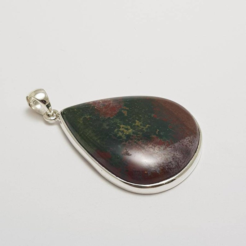 Bloodstone AAA Grade Crystal Pendant #1 Highest Form Of Sterling Silver 925