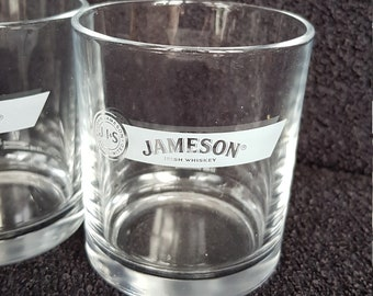 Vintage pair Jameson Irish Whiskey tumblers