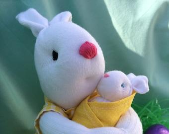 Sock Bunny Momma and Baby