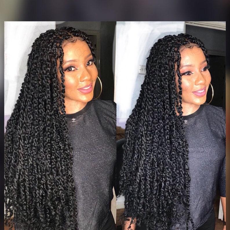 Passion twists wig knotless braids wig Box braids wig cornrow braided wig  full lace wig Senegalese twists faux locs wig passion twist goddes