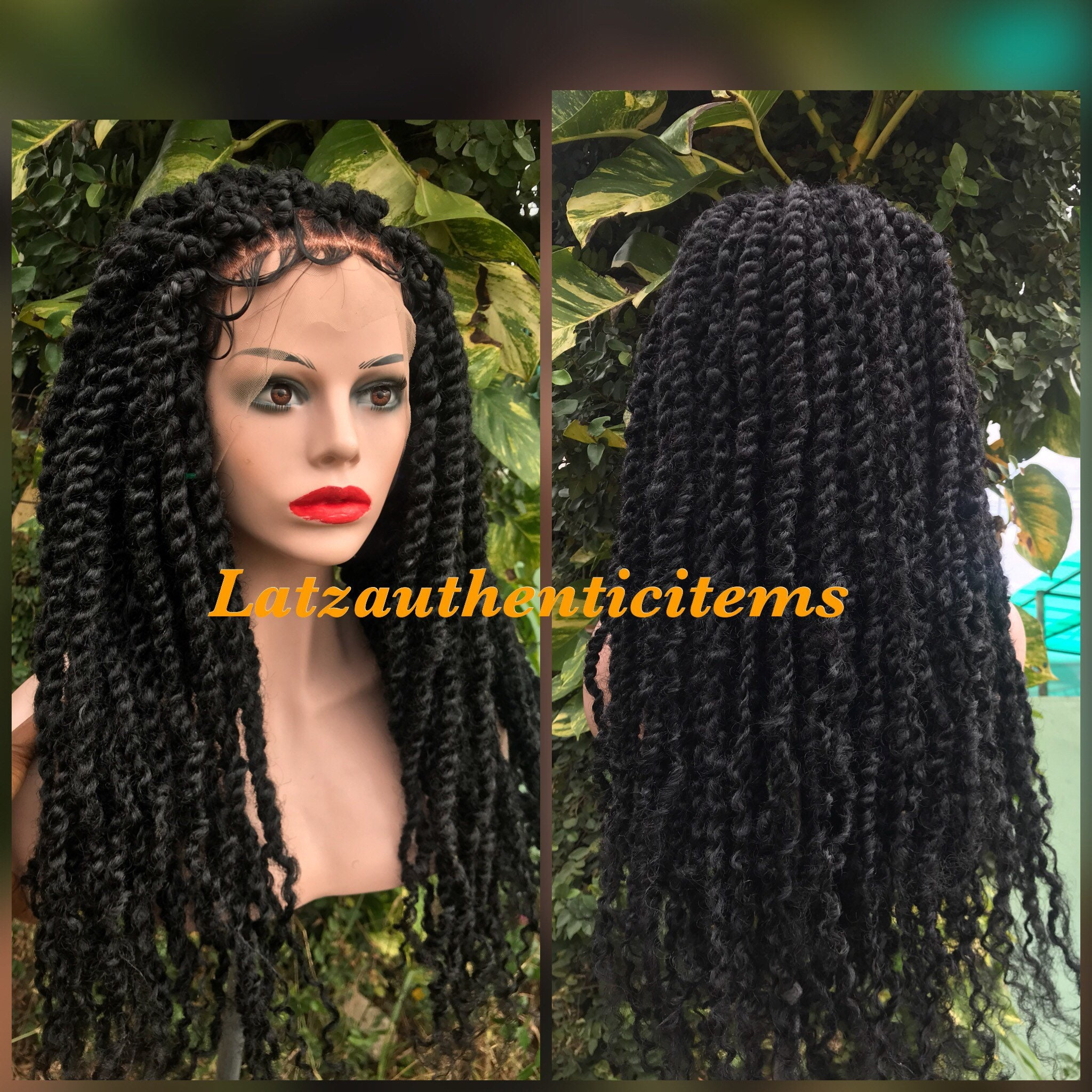 Passion twists wig knotless braids wig Box braids wig