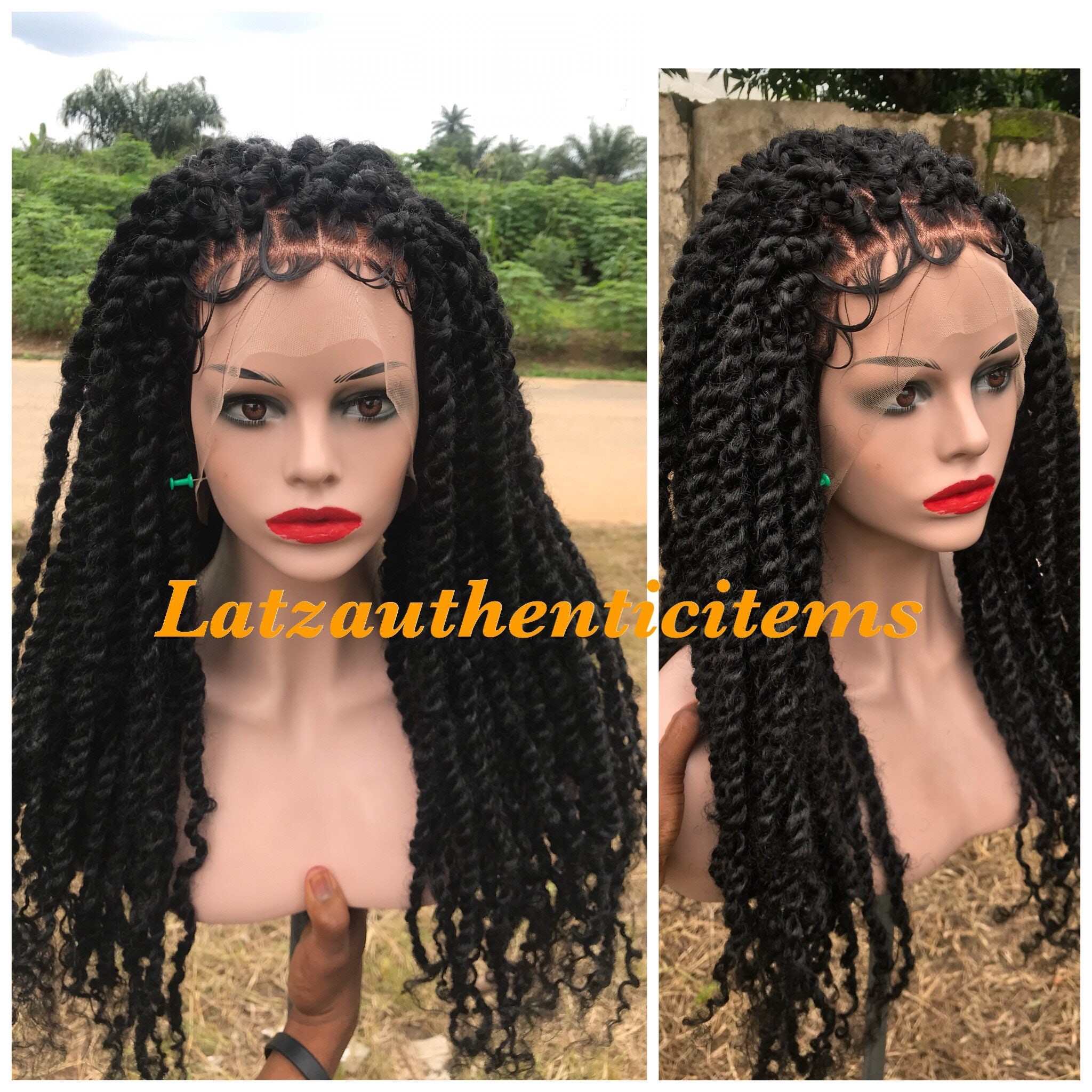 bb4d5dd2d42 Passion twists wig knotless braids wig Box braids wig cornrow ...