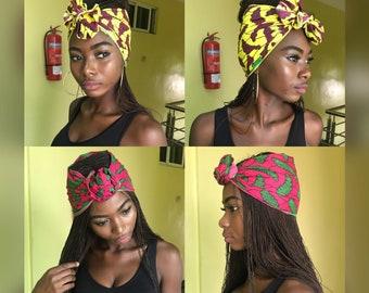 African print scarf Ankara scarf kente scarf