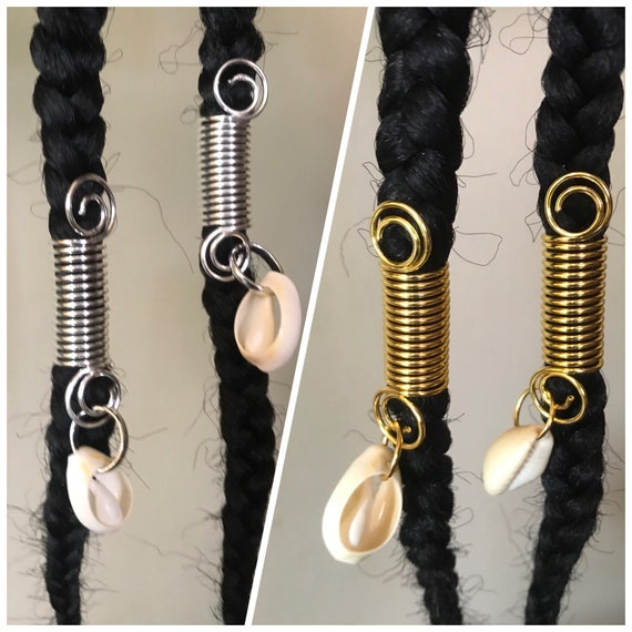 Cowries Ring Hair Accessories For Braids And Dreadlocks Etsy