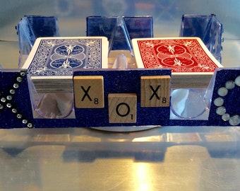 Revolving Canasta Tray with XOXO