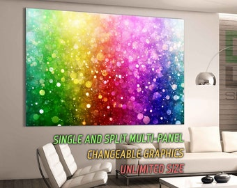 Abstract colorful bokeh lights Print Office Wall Decor Art Wall Art Wall Poster Wall Decoration Gallery Wrapped Canvas Canvas Print