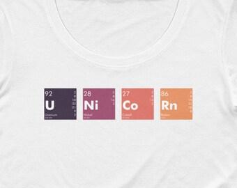 UNiCoRn Elements Women's Scoopneck T-Shirt, periodic table