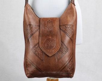 Brown leather tote, Leather Shoulder Bag, Woman shoulder bag, Leather Purse, Leather tote bag, Women's Shoulder Bag