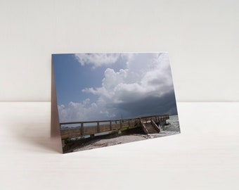 Storm Clouds and Pier Note Cards (set of 8)
