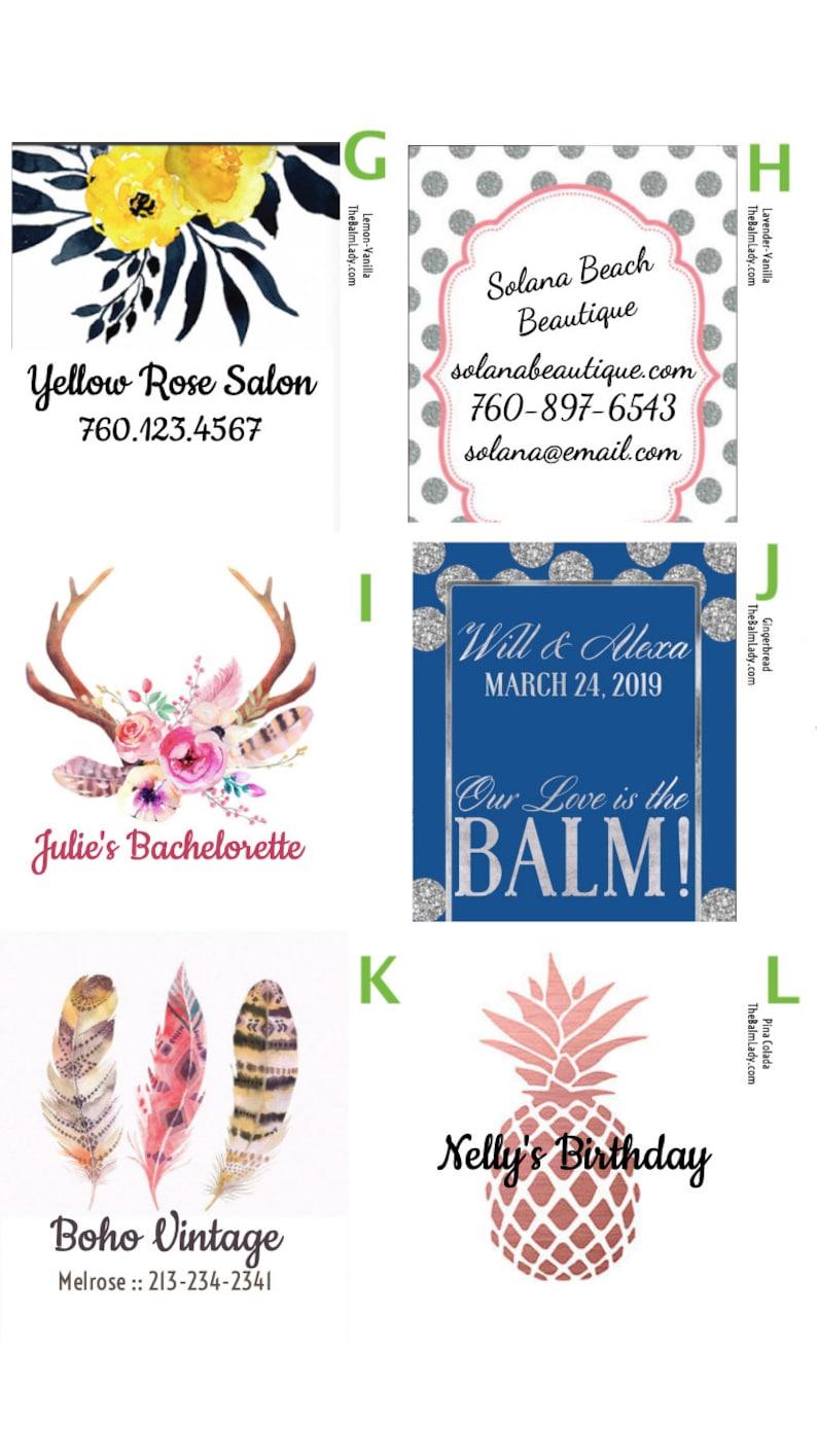 Lip Balm PARTY FAVORS Salon Bridal Shower Eye Lash Artist Wedding Birthday Chapstick Party Favor Graduation Bachelorette